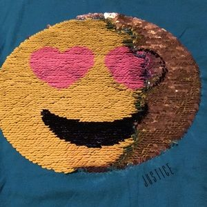 Justice Shirts & Tops - Justice girls size 18 sequence emoji blouse new